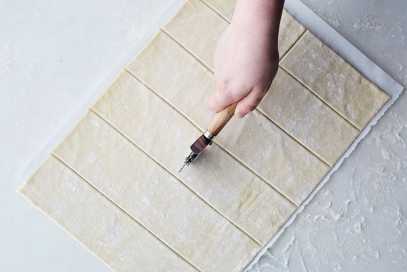 Rectangles work well in this recipe!