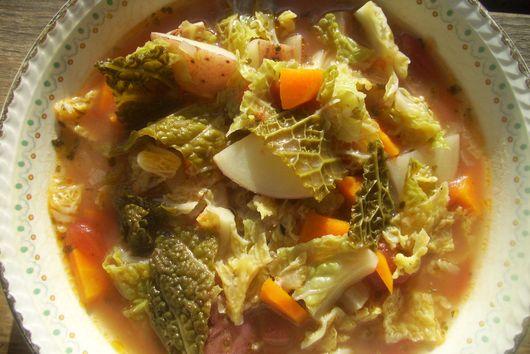 Savoy Cabbage Soup - Čušpajz od kelja