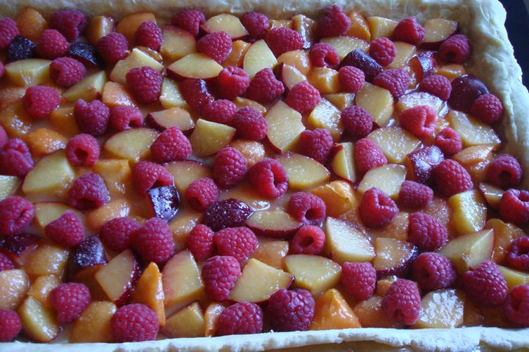 Plum Delicious Slab Pie