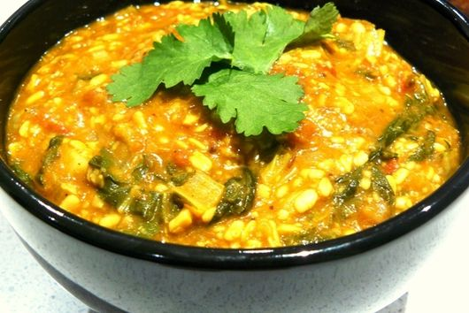 Bok Choy Dal Tadka (Dhaba style)/Bok Choy in Spiced Lentil Curry
