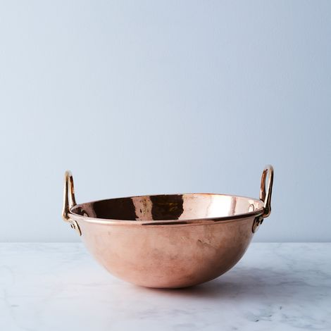 Vintage Copper French Medium Mixing Bowl, Mid 19th Century