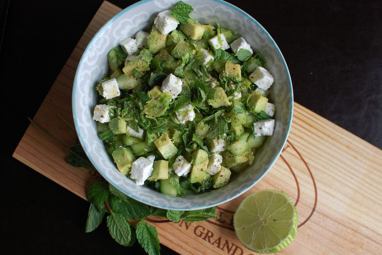 Crunchy, Creamy Cucumber-Avocado Salad