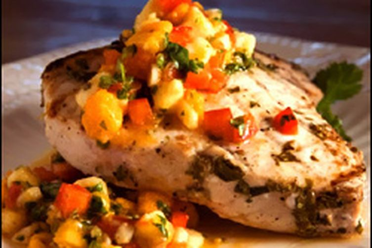 Grilled swordfish with mango salsa recipe on food52 for Sword fish recipes