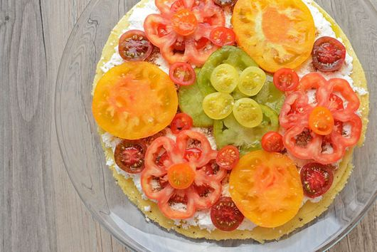Heirloom Tomato Polenta Pie