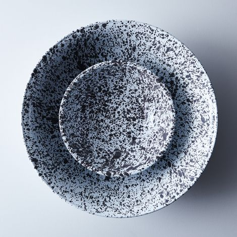 Grey Splatter Enamel Basin
