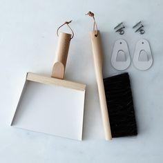 [OLD] Vintage-Inspired French Hanging Dustpan & Brush Set