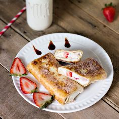 Mexican Strawberry Cheesecake Chimichangas