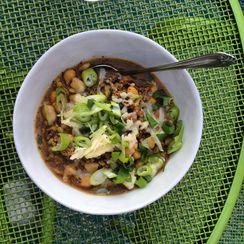 White Bean and Barley Turkey Chili