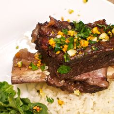 Flambeed Short Ribs with Blood Orange Gremolata