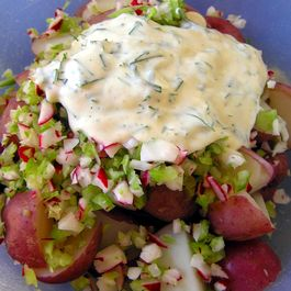 No Mayo New Potato Salad with Lemon, Dill, and Chives