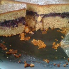 Blueberry Almond Rum Cake