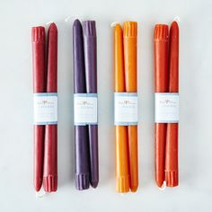 Tapered Fall Candles (Set of 8)