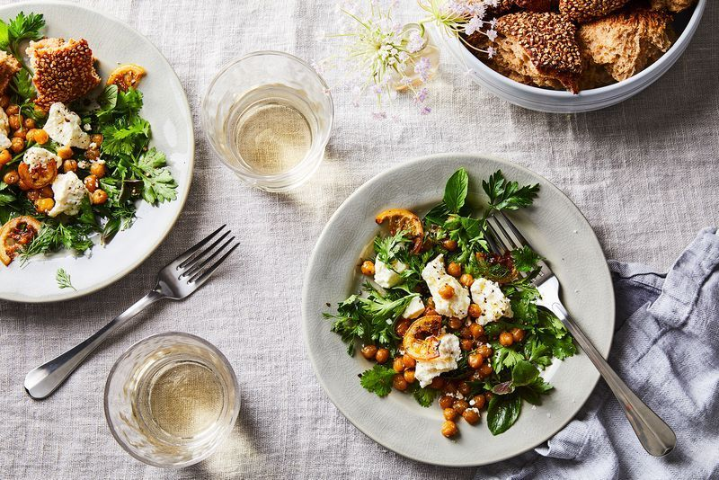 A fresh summer salad looks even prettier in a scene set with Bloomingdale's serving ware.