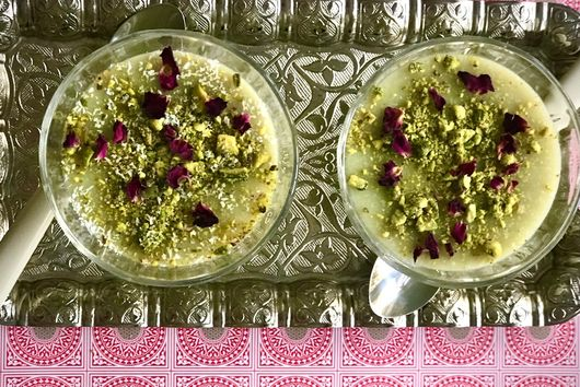Matcha Tea Almond Pudding (Keskul)