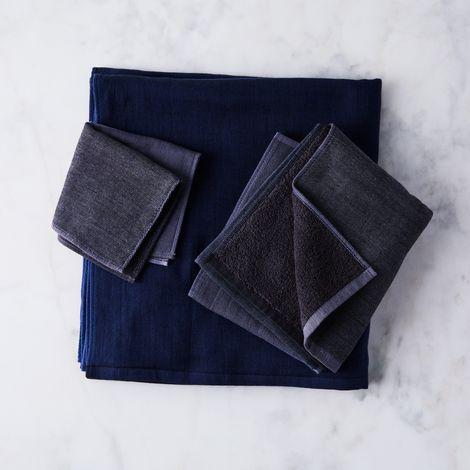 Chambray Block Japanese Bath Towels