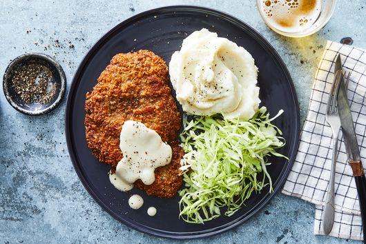 Chicken-Fried Steak Katsu With Milk Gravy