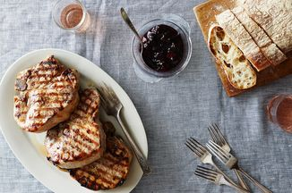 5a76392e e0f2 47fe 9b03 a5af55b7c56f  2015 0810 simple summer pork chops with balsamic pepper plum reduction and fresh thyme alpha smoot 282