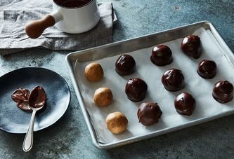 The (Crunchy!) Secret Ingredient To Pumped-Up Chocolate Buckeyes