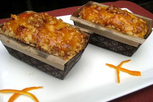 Vanilla Bean-Walnut-Orange Compote  Pound Cake with Vanilla Bean Ice Cream