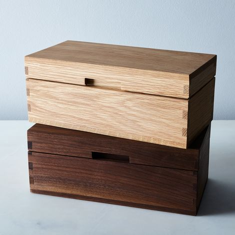 Handmade Wood & Leather Jewelry Box
