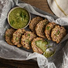 Brown Rice Patties with Pesto