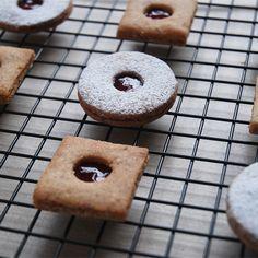 Linzer Augen (Hazelnut Sandwich Cookies)
