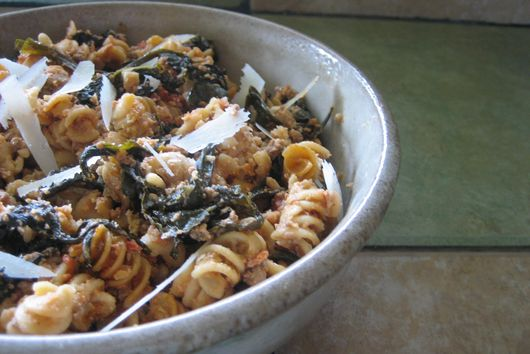 Whole Wheat Rigatoni with Lamb and Tuscan Kale Ragú