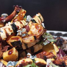 Roasted Vegetables and Blue Cheese with a Sherry Maple Gastrique