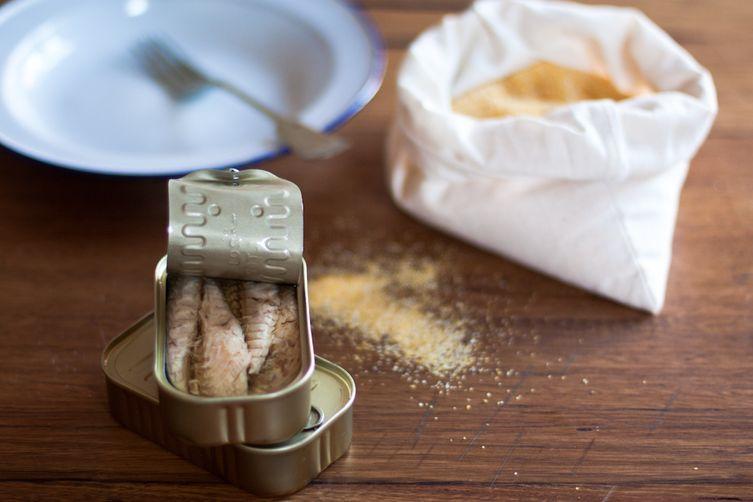 Mackerel Mantecato on grilled polenta