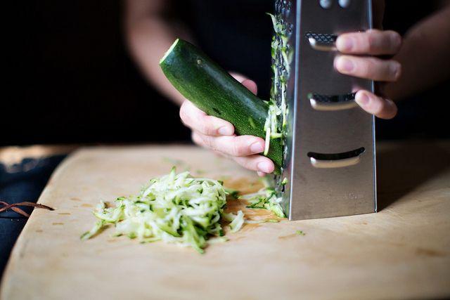 shredding zucchini
