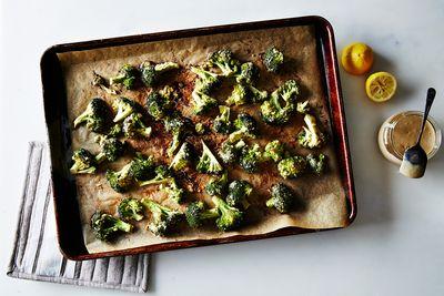 Tahini Roasted Broccoli