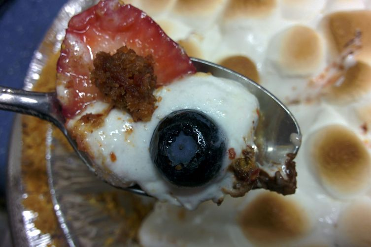 Bacon Berry S'mores Pie