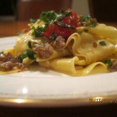 Simple sausage pasta