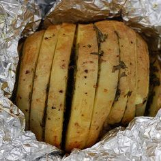 Grilled Herbed Potatoes in Foil Jackets