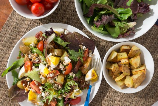 Breakfast Salad with Eggs and Potatoes