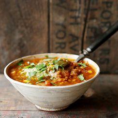 Smoky Red Lentil & Poblano Chili Soup