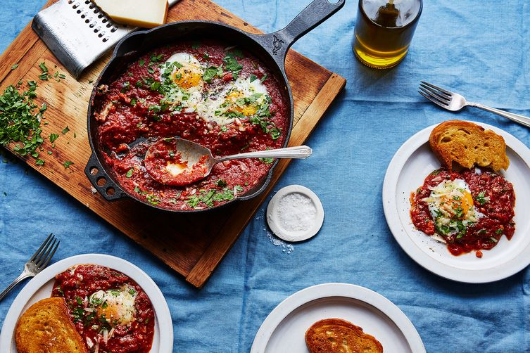 Eggs in Purgatory with Capers and Parsley