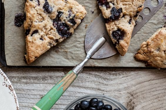 Blueberry, Lemon and Ricotta Scones