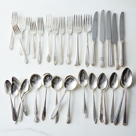 Vintage Silver-Plated Eclectic Flatware