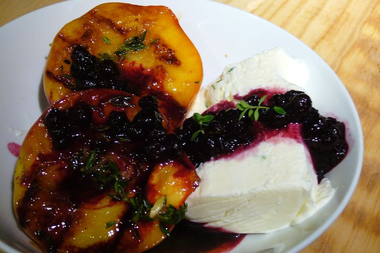 Peaches-n-Herb (Grilled Peaches, Lemon-Thyme Semifreddo ...