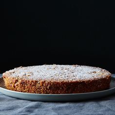 Pecan-Crusted Oat Flour Genoise