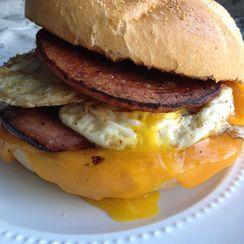 Smokin'  Hot Taylor Ham, Egg and Cheese