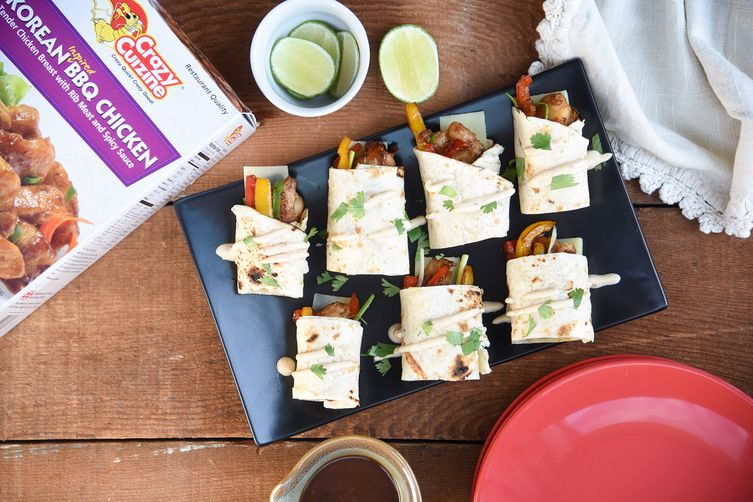 Mini Korean BBQ Chicken Fajitas