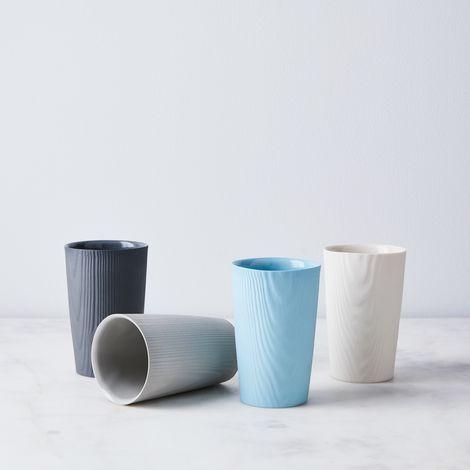 Wood Grain Porcelain Cup