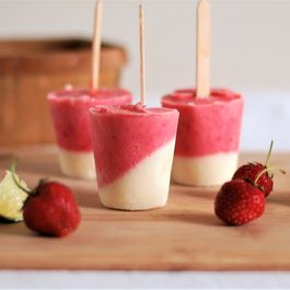 Berry Lime Popsicles