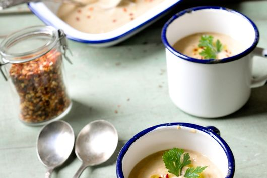 Parsley Root and Lady Apple Soup