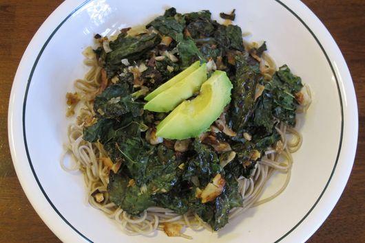 Soba Noodles with Crispy Kale & Coconut