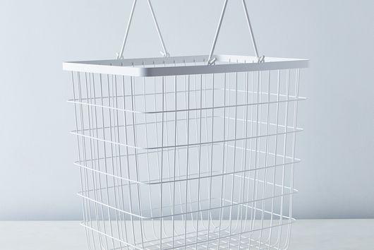 Steel & Wood Laundry Basket
