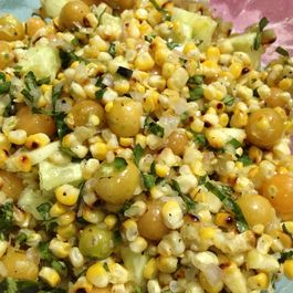 Grilled Corn, Basil and Ground Cherry Salad