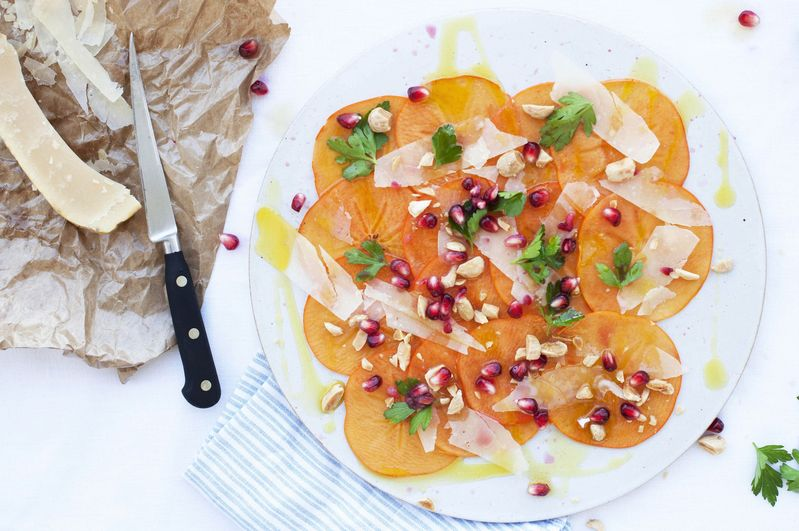 A Simple, Bright Persimmon Salad